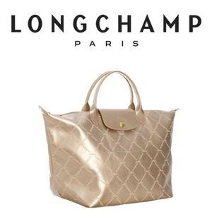 Longchamp Gold Depose Tote